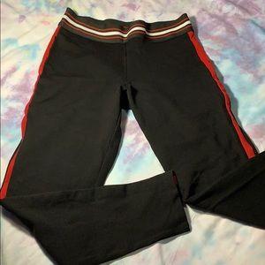 Ci Sono black red striped leggings